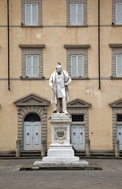 June 9, 2015: House, square, Prato, Tuscany, Italy, city