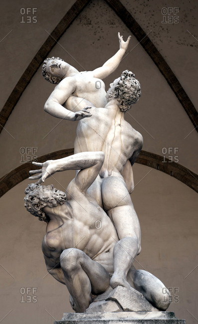June 11, 2015: Sculpture, artwork, Florence, Tuscany, Italy, city