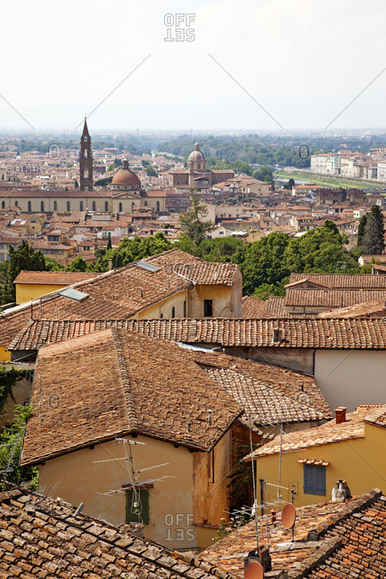 Houses, panorama, architecture, Florence, Tuscany, Italy