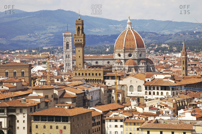 June 11, 2015: Duomo, houses, panorama, architecture, Florence, Tuscany, Italy