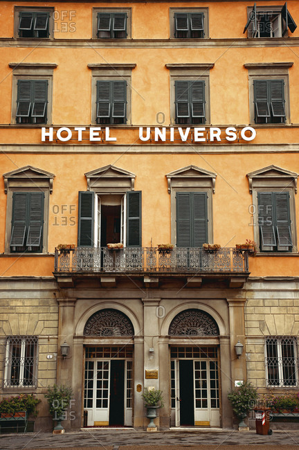 June 15, 2015: House, hotel, Lucca, Tuscany, Italy