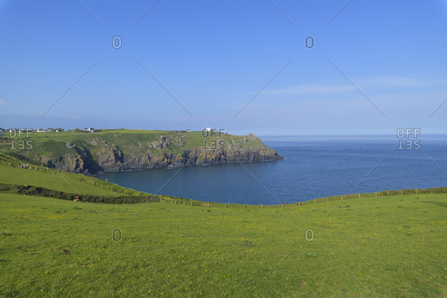 View to Housel Bay, Lizard Lighthouse, Cornwall, South West England, England, United Kingdom, Europe