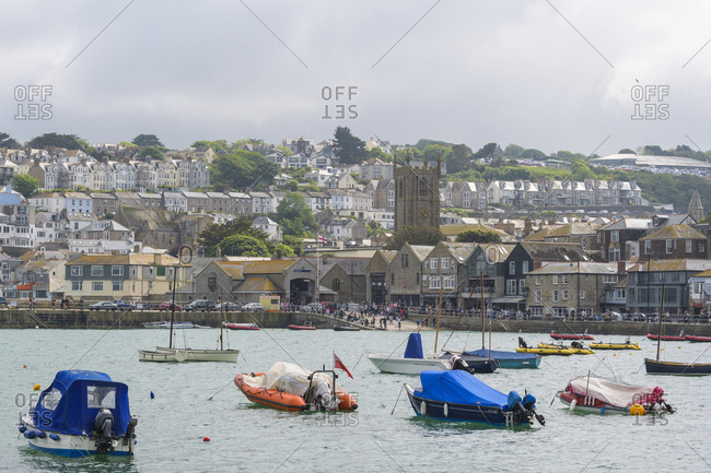May 27, 2018: Harbor, St Ives, Cornwall, South West England, England, United Kingdom, Europe