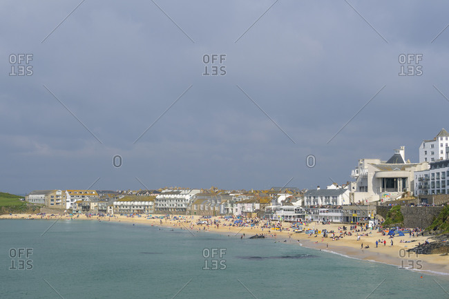 May 27, 2018: Beach, St Ives, Cornwall, South West England, England, United Kingdom, Europe