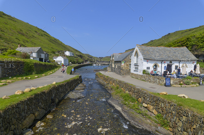 May 22, 2018: Historic town, Tintagel, Cornwall, South West England, England, United Kingdom, Europe