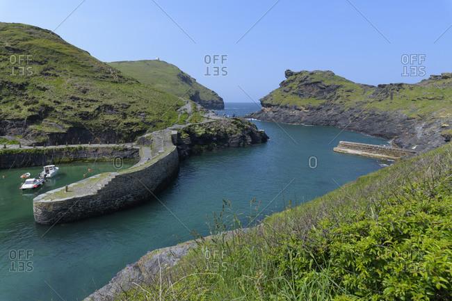 Harbor, Tintagel, Cornwall, South West England, England, United Kingdom, Europe