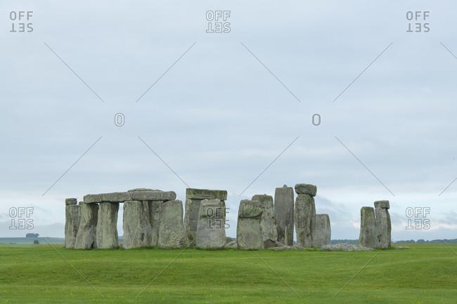 Prehistoric Stonehenge monument in the morning, Salisbury, England, South West England, United Kingdom