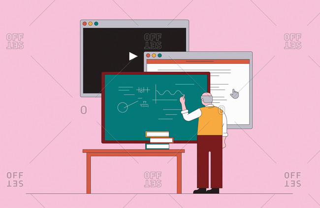 Progress in teaching from blackboard through interactive screen to video technology