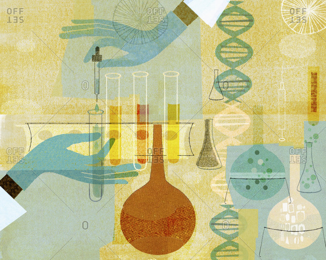 Genetic research with genomes and vials