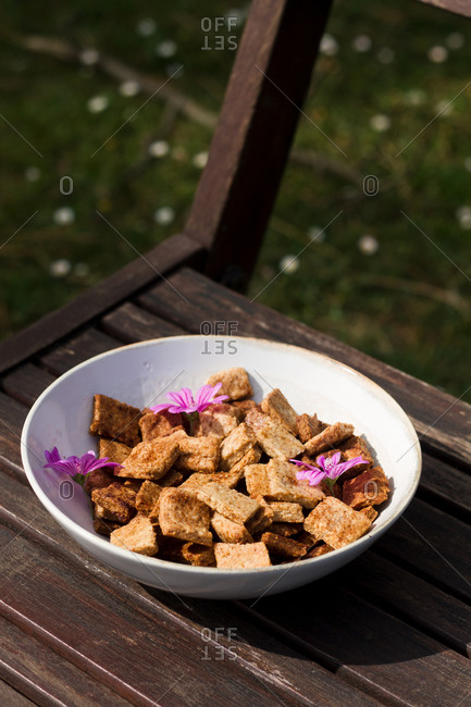 Cinnamon cereal wooden chair