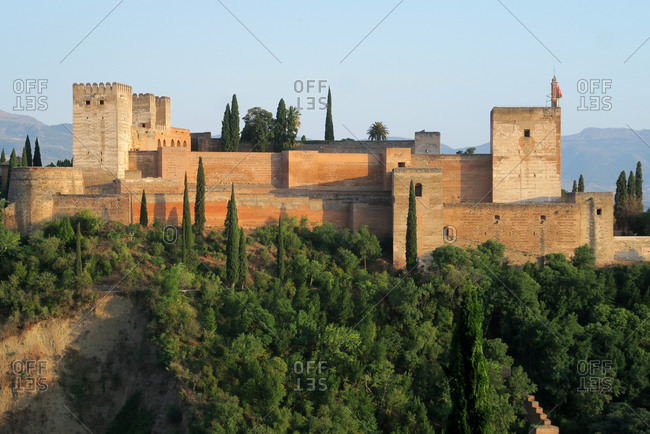 Alcazaba, military fortress in the Alhambra palace, Spain