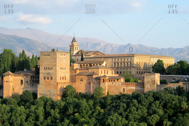 Alhambra fortress palace in Granada, Spain