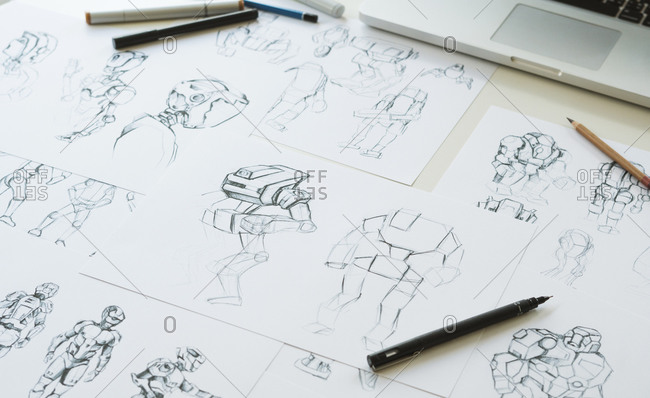 Animation character design video game film production