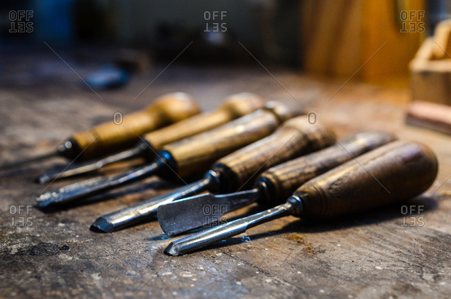 Violin maker luthier tools for wood carving cremona italy