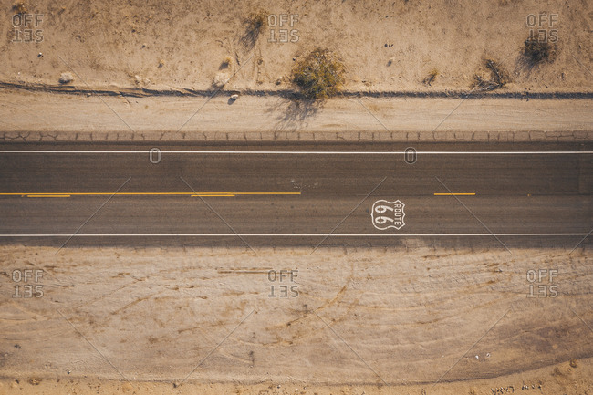 Highway 66 from above, california