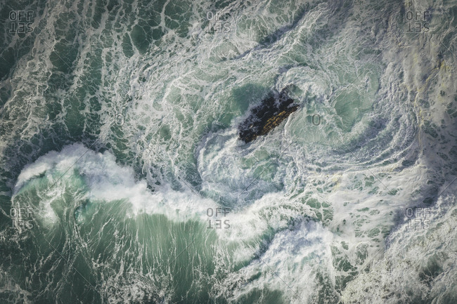 Pacific ocean waves from above
