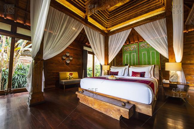 Guest room in resort, Ubud, Bali, Indonesia