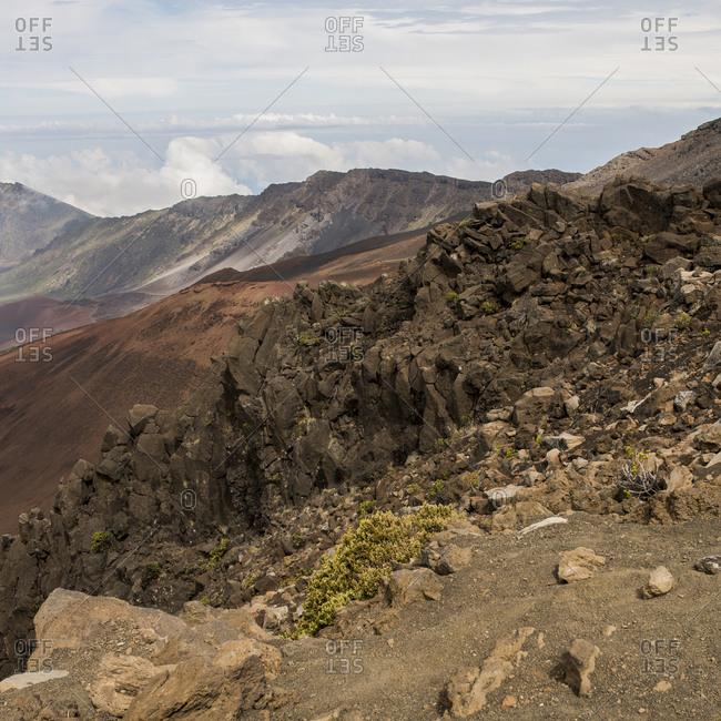 Barren landscape, Haleakala, Maui, Hawaii