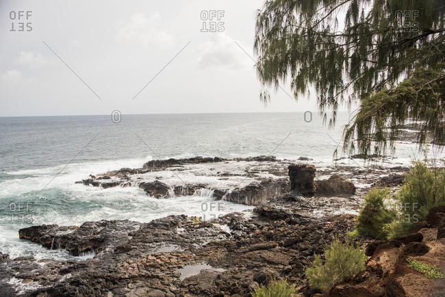 Rocky coast, Kauai, Hawaii