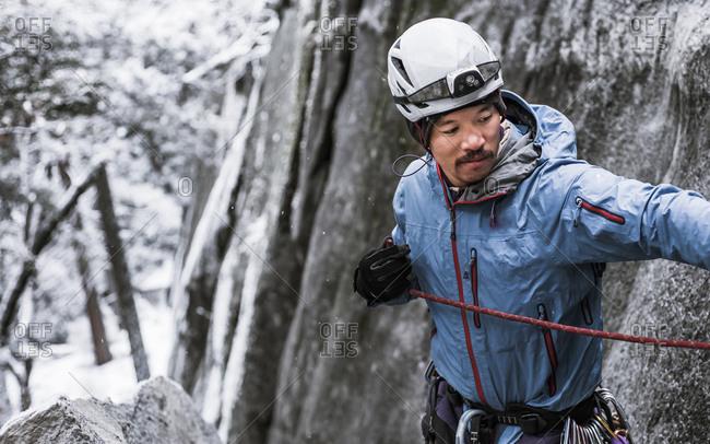 Big wall climbing, Yosemite National Park, California, USA