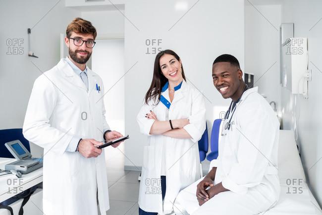 Doctors in consultation room
