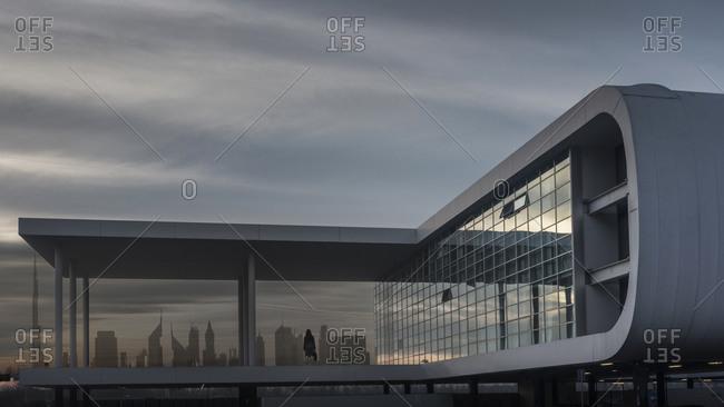 January 26, 2019: Modern building, Dubai, United Arab Emirates