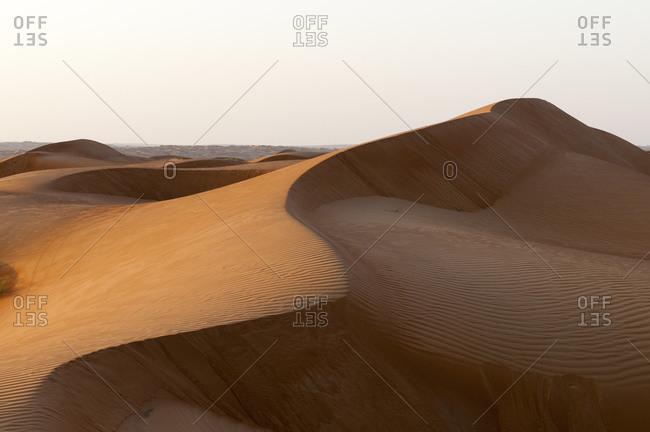 Sand dunes, Wahiba Sands desert, Oman
