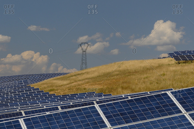 Solar power plant, Les Mees, Provence, France