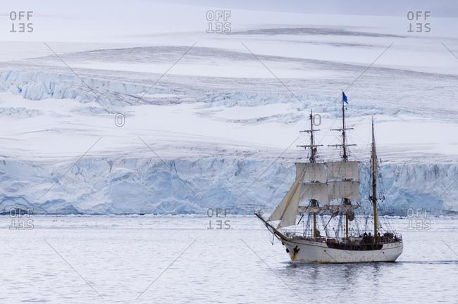 Sailing ship Europa, South Shetlands Islands, Livingston Island, Antarctica