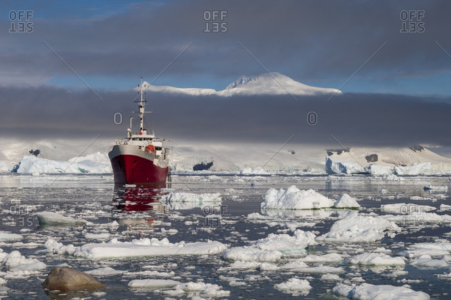 Antarctic Dream ship, Gerlache strait, Neko Harbor, Antarctica, Antarctic Peninsula