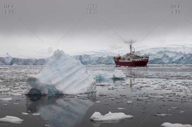 Antarctic Dream ship, Paradise Bay, Antarctica, Antarctic Peninsula