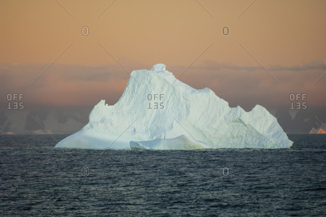 Iceberg on Gerlache strait, Antarctica, Antarctic Peninsula