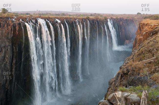 Scenic view of Victoria Falls, Zambezi River, Zimbabwe