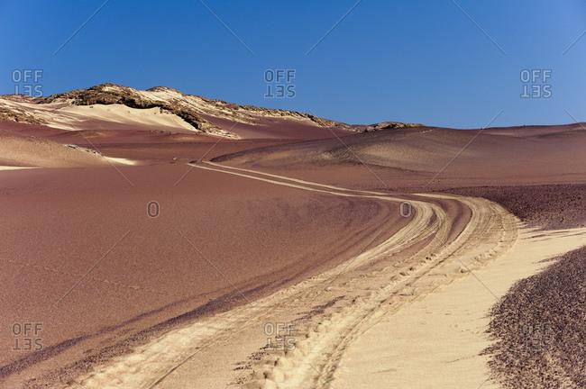 Empty desert road, Skeleton Coast National Park, Namibia