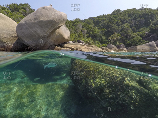 Clear water and rocks of Ko Miang island, Thailand