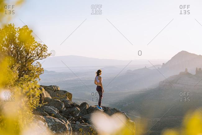Female jogger, Schnebly Hill Road, Sedona, Arizona, United States