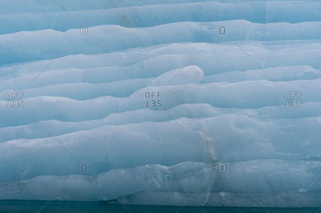 Iceberg, Krossfjorden, Spitsbergen, Svalbard, Norway