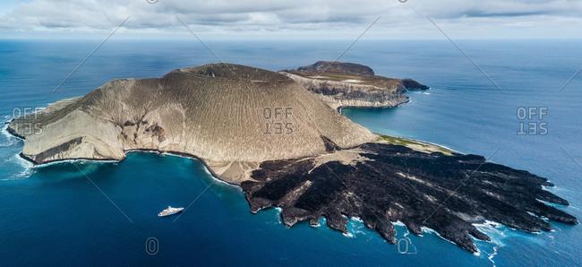 Volcanic crater and texture of San Benedicto Island, Punta Baja, Baja California, Mexico