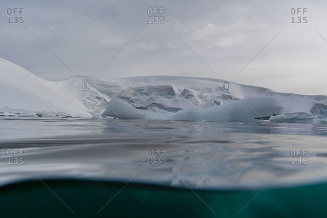 Surface view of iceberg, Skontorp Cove, Paradise Bay, Antarctica