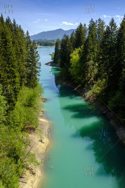 Germany- Bavaria- Swabia- Ostallgau- Allgau- Tiefental- tributary Bernmoosbach in Forggensee