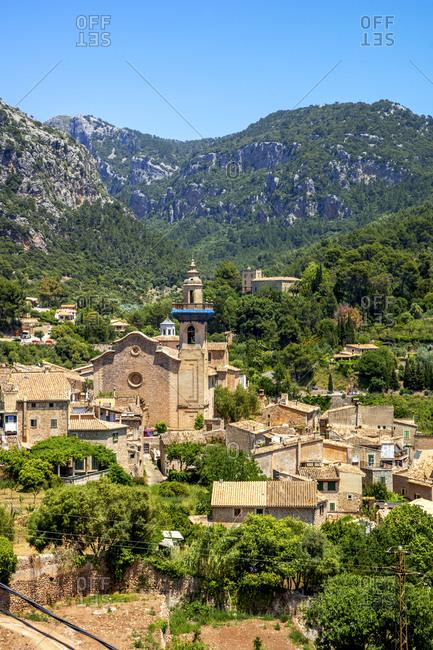 Spain- Balearic Islands- Valldemossa- Mountain village in summer