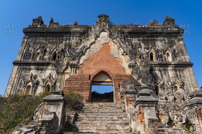 Myanmar- Mandalay Region- Inwa- Entrance gate of Lay Htat Gyi Temple