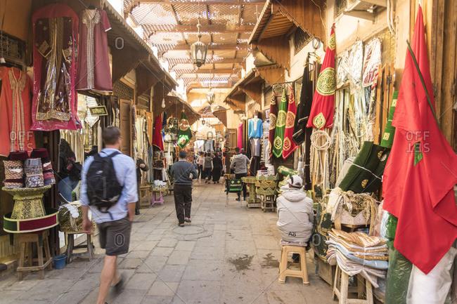 November 18, 2017: Morocco- Fez- Market in historic Medina