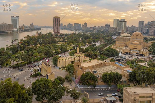 November 16, 2018: Egypt- Cairo- Nile- Tahrir Square and Garden City