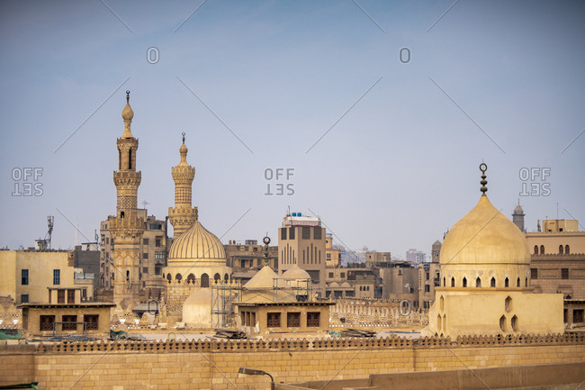 Egypt- Cairo Governorate- Cairo- Minarets of Al-Azhar Mosque