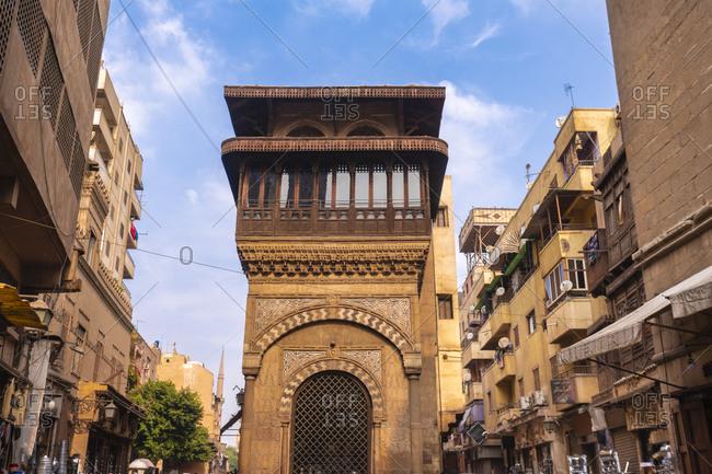 November 9, 2018: Egypt- Cairo Governorate- Cairo- Sabil-Kuttab of Katkhuda fountain and Quran school