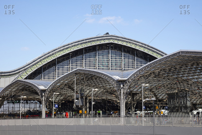 May 15, 2020: Germany- North Rhine-Westphalia- Rhineland- Cologne- Exterior of Koln Hauptbahnhof