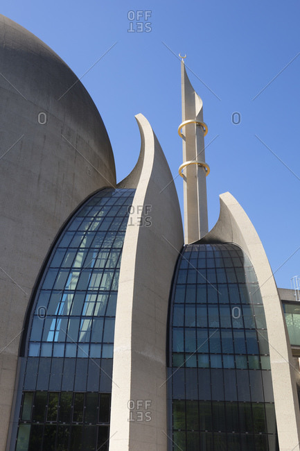 May 15, 2020: Germany- North Rhine-Westphalia- Rhineland- Cologne- Exterior of Cologne Central Mosque
