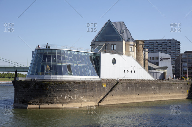 May 15, 2020: Germany- North Rhine-Westphalia- Rhineland- Cologne- Imhoff-Schokoladenmuseum (Chocolate museum) on Rhine river