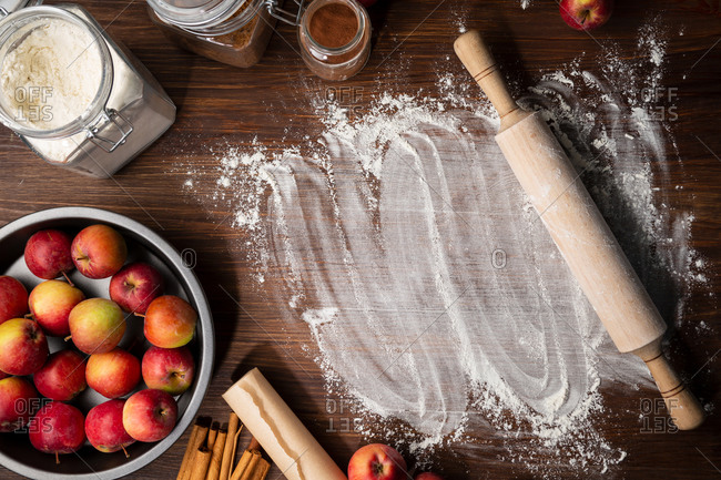 Making apple pie from scratch